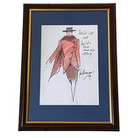 Set of 9 Original Drawings by Ian Thomas - Dressmaker for the Royal Family (2 of 9)