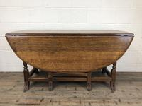 Early 20th Century Antique Oak Gateleg Dining Table (8 of 13)