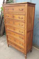 Tall French Cherry Chest of Drawers (2 of 4)