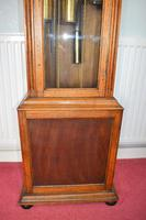 Light Honey Coloured Oak Glass Fronted Grandfather or Grandmother with British  8 Day Triple Weight Quarter Chiming Westminster Musical Longcase (3 of 9)