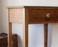 1900's Pine Side Table with Single Drawer (5 of 9)