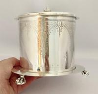 Victorian Silver Plated Biscuit Wafer Box c.1890 (9 of 9)