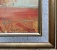 Lovely 20th Century British Impressionist School Floral Still Life Oil Painting (9 of 10)