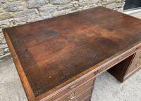 Huge Antique Victorian Oak Partners Desk (17 of 24)