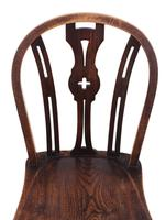 Set of 4 Elm & Beech Kitchen Dining Chairs c.1900 (6 of 7)