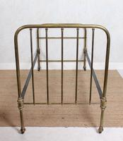 Brass Bed Frame Victorian 19th Century Single Bedframe Cast Iron (12 of 12)
