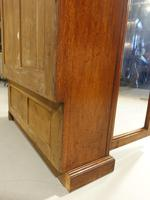 Late 19th Century Oak Two Door Bookcase (6 of 6)