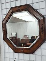Octagonal Oak Mirror (3 of 3)
