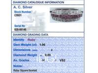 1.06ct Ruby & 0.89ct Diamond, Platinum Ring - Antique c.1890 (6 of 9)