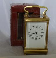 French Fluted Columns Carriage Clock