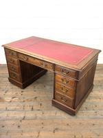 Antique Kneehole Desk (8 of 12)