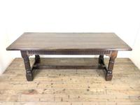 Large Antique Oak Refectory Table (2 of 9)
