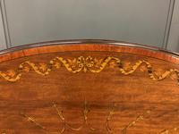 Fine Quality Oval Inlaid Mahogany Occasional Table (8 of 16)