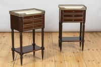 Pair of French Three Drawer Mahogany Bedside Cabinets (9 of 10)