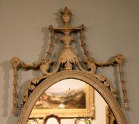 19th Century Oval Painted Mirror (2 of 3)