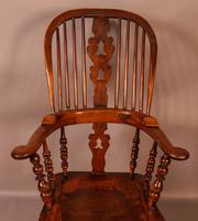 Victorian Broad Arm Windsor Chair Ash & Elm (6 of 9)