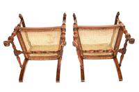 Pair of William & Mary Revival Bergere Elbow Chairs c.1930 (6 of 6)