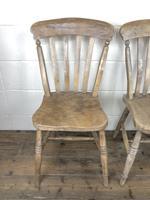 Set of Four Antique Farmhouse Kitchen Chairs (5 of 14)