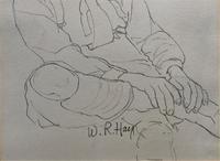 William Robert Hay - Original - Seated Student Portrait Pencil Drawing (8 of 12)
