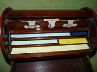 Compact Figured Oak Roll Top Stationery Box. c1900 (9 of 14)