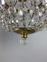 Early 20th Century Bag Chandelier, Ceiling Light, Rewired (7 of 12)