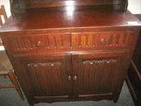 Two Drawer Linenfold Dutch Dresser (3 of 4)