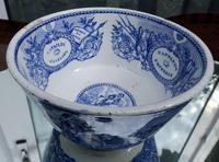 An Extremely Rare Pottery Napoleon Propaganda B&w Commemorative Bowl C.19thc (9 of 12)