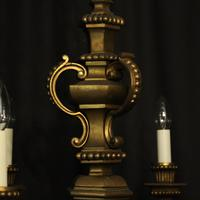 French Gilded Bronze 6 Light Antique Chandelier (3 of 10)