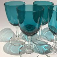 6 Victorian Green Drinking Glasses (5 of 5)
