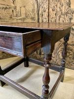 Signed 18th Century Oak Occasional Table (5 of 6)
