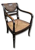 Single English Regency Painted Armchair