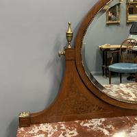 Large French Marble Top Dressing Table (8 of 9)