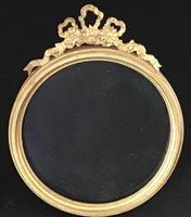 Victorian Gilt Brass  Circular Easel Photo Frame. (4 of 4)