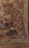 Antique French Tapestry Classical Courtly Love Romance c.1860 (10 of 17)