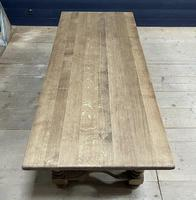 Deep Bleached Oak French Farmhouse Dining Table (5 of 20)