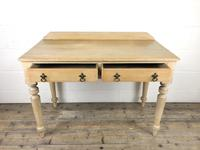 Victorian Antique Pine Two Drawer Side Table (10 of 13)