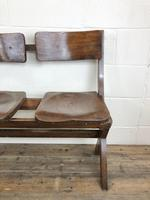 Antique Victorian Elm Four Seater Bench (M-717) (4 of 12)