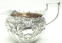 English Victorian Antique Solid Silver Tea Set, Embossed Decoration c.1890 (9 of 11)
