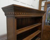 Arts & Crafts Open Oak Bookcase with Secret Compartment (3 of 7)