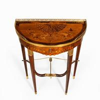 French demi-lune rosewood bow and arrow table by Georges-François Alix (5 of 11)
