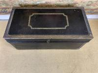 Leather & Brass Bound Camphor Wood Trunk (2 of 5)