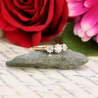 The Vintage 1978 Cathedral Set Three Diamond Ring