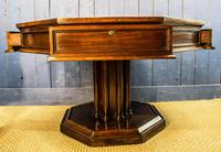 19th Century Mahogany Library Table. Drum or Rent Table (7 of 9)