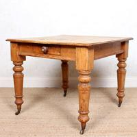 19th Century Pine Dining Table Fitted Drawer (5 of 11)