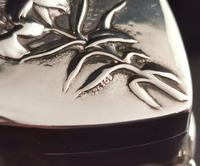 Antique Heart Shaped Silver Jewellery Box, Art Nouveau, William Comyns (8 of 15)
