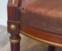 French Mahogany, Brass & Leather, Low Back Armchair (6 of 9)