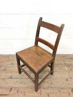 Four Similar 19th Century Welsh Oak Bar Back Farmhouse Chairs (6 of 9)