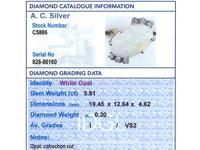 5.81ct Opal & 0.30ct Diamond, 9ct Yellow Gold Dress Ring - Vintage c.1960 (6 of 9)