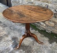 Large Georgian Oak Tilt Top Occasional Table (14 of 21)