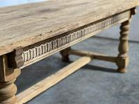 Superb Quality Large Bleached Oak Farmhouse Dining Table (9 of 32)